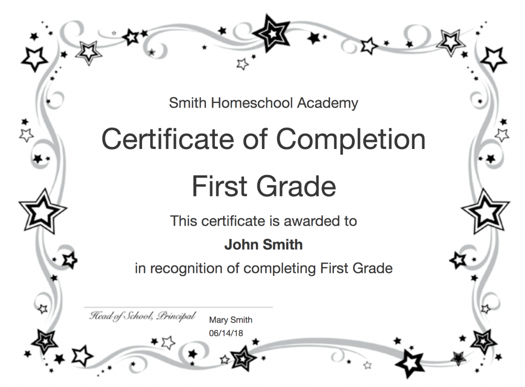 Create Certificates Of Completion And Homeschool Diplomas With