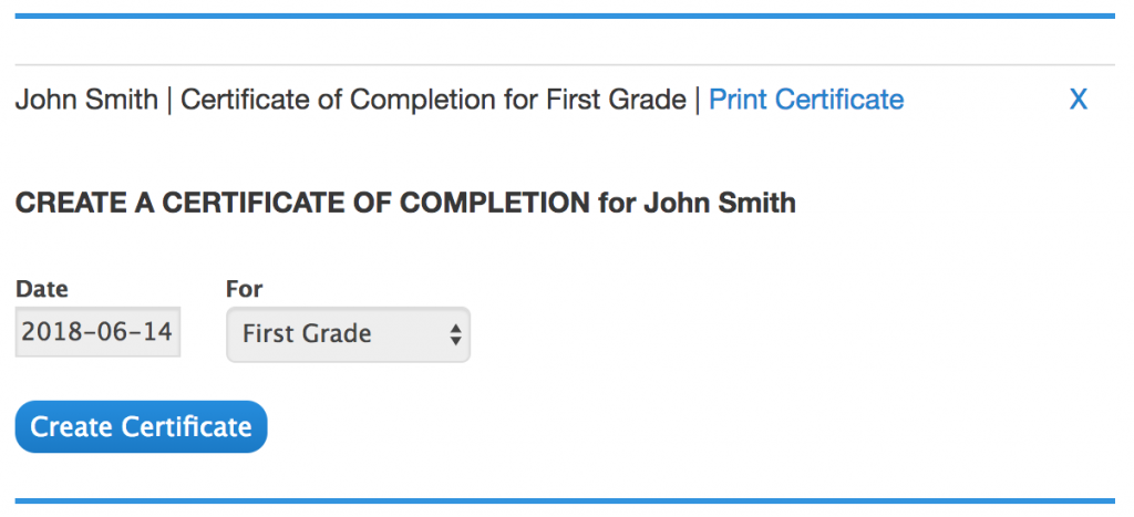 make a certificate of completion