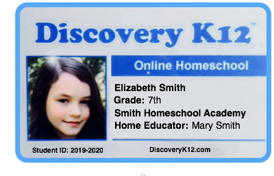 Card K12 Id Student Homeschool Discovery